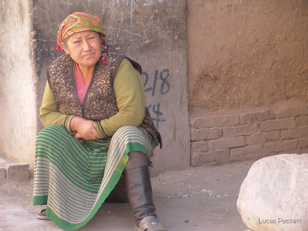 Kashgar, Elderly Uyghur Woman by Lucas Packett