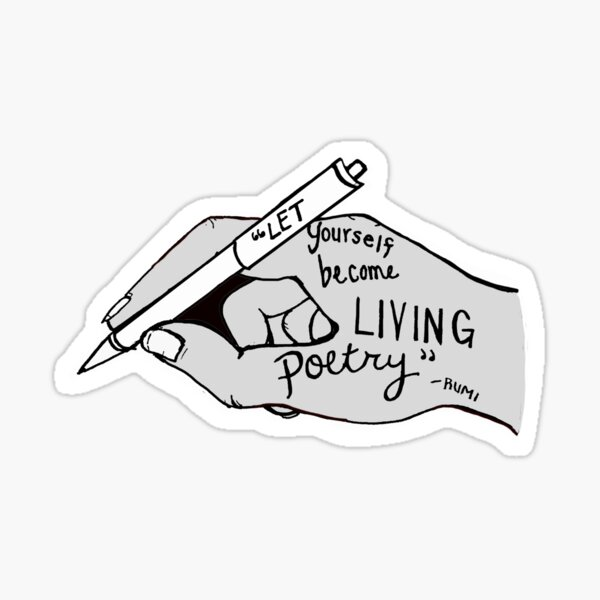 living poetry Sticker
