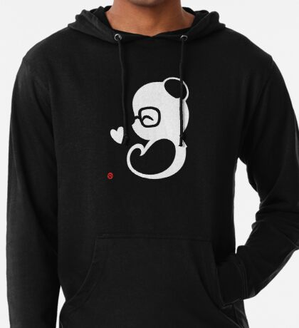 Panda Silhouette Portrait Lightweight Hoodie