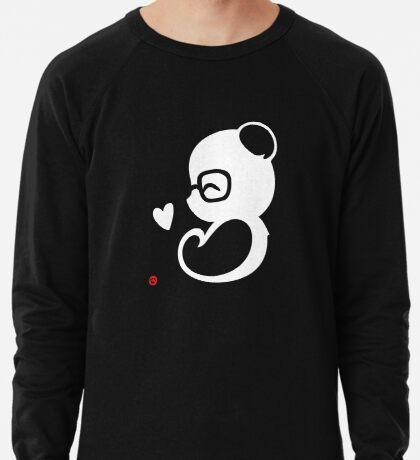 Panda Silhouette Portrait Lightweight Sweatshirt