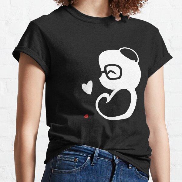 Portrait de Silhouette Panda T-shirt classique