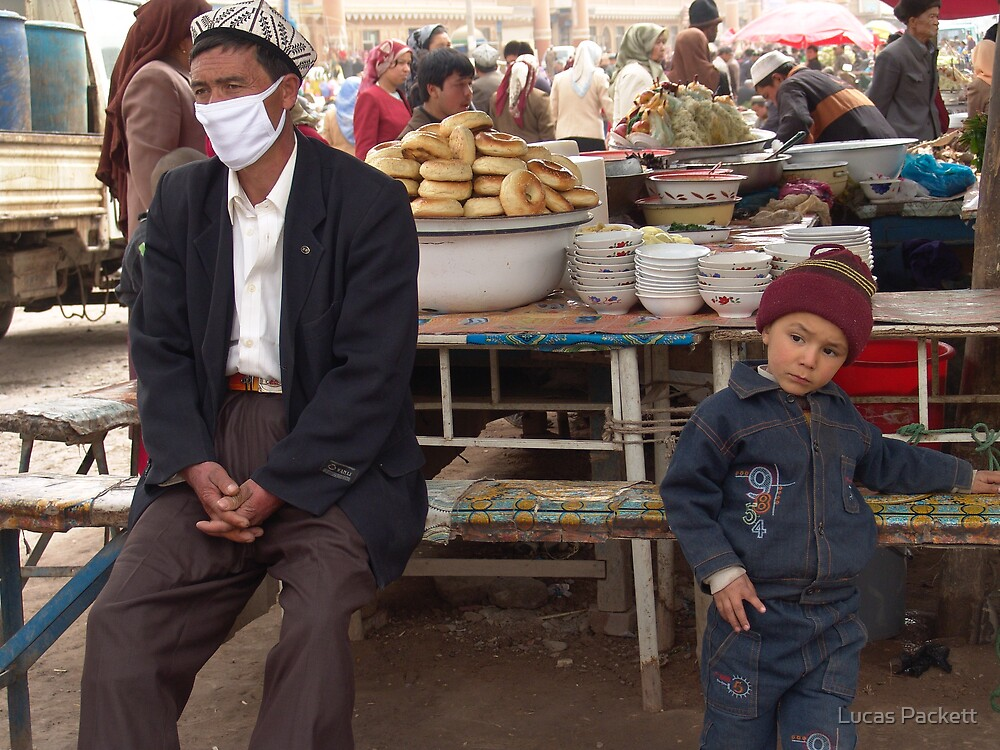 Kashgar, Quiet Moment at the market by Lucas Packett