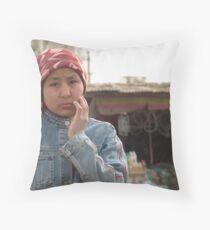 Kashgar, Uyghur Woman Throw Pillow