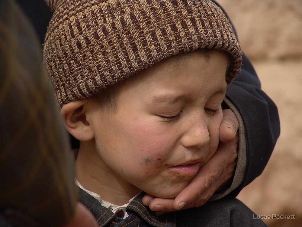 Kashgar, Uyghur Boy in Old City by Lucas Packett