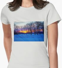 SCENIC SNOW SUNSET Womens Fitted T-Shirt