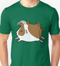 Leaping Guinea-pig ...Brown and White T-Shirt