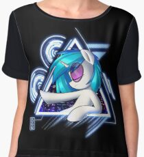 Dj Pon3 - Vinyl Scratch City Lights Chiffon Top