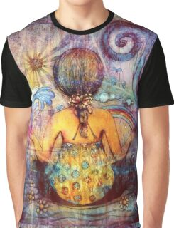 Rainbow Meditation Graphic T-Shirt