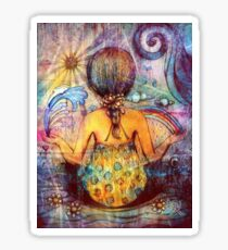 Rainbow Meditation Sticker