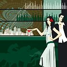 Cocktail bar by Lara Allport