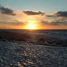 Sunset National Beach Southampton New York by Brennen Cole
