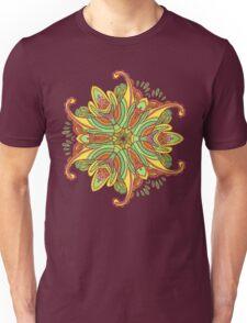 Vector hand drawn doodle mandala. Ethnic mandala with colorful ornament. Isolated. Unisex T-Shirt
