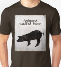 Applewood Smoked Bacon weathered farm sign, industrial farmhouse kitchen art Unisex T-Shirt