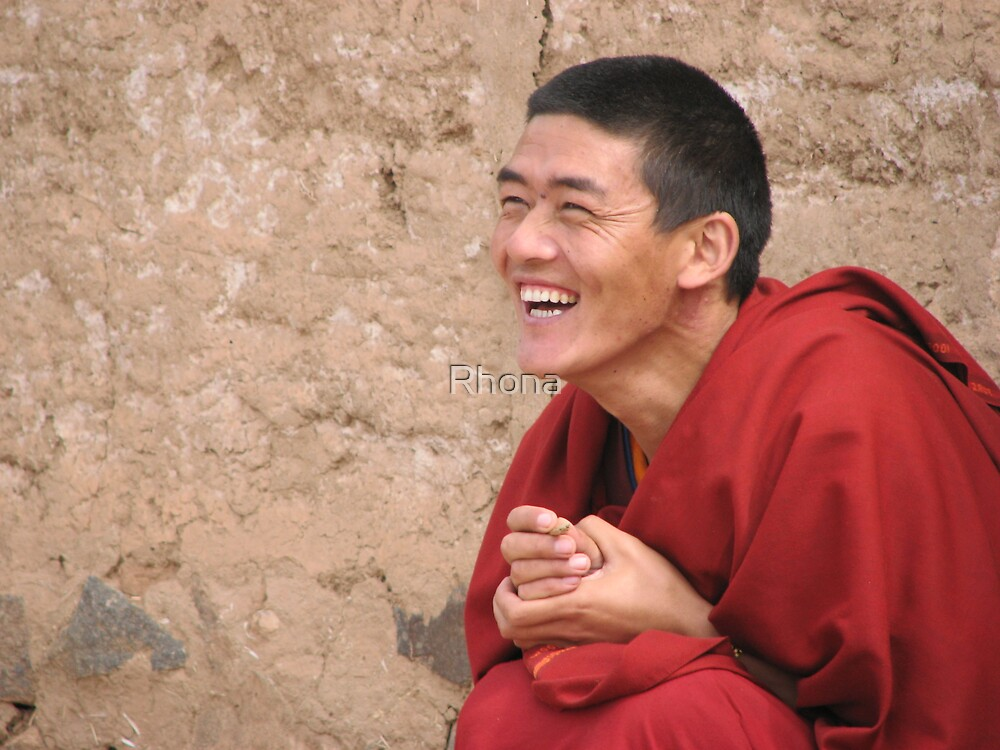 Laughing Monk by Rhona