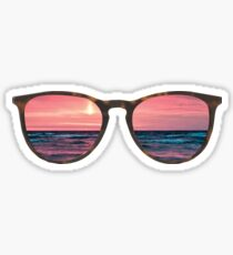 sunglasses beach sunset Sticker