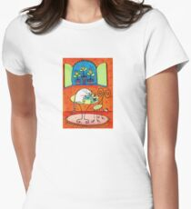 TeaTime for Kitty Womens Fitted T-Shirt