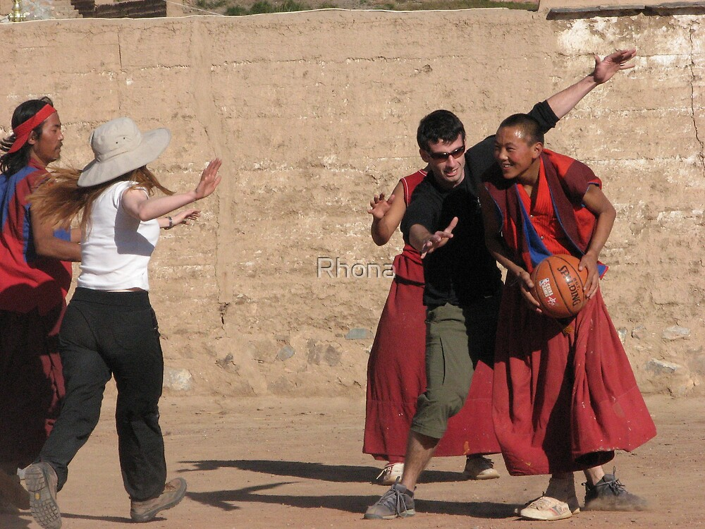 Basketball Monks by Rhona