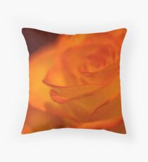 Fiery a beautiful orange and yellow rose Throw Pillow