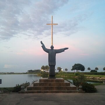 St. Augustine - Statue and Cross by cheyenne9229