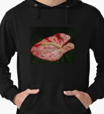 Red and White Anthurium  Lightweight Hoodie