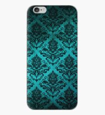 Teal Damask iPhone Case