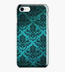 Teal Damask iPhone Case/Skin