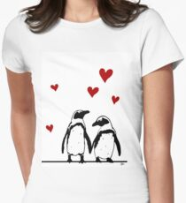 African Penguin Love Women's Fitted T-Shirt