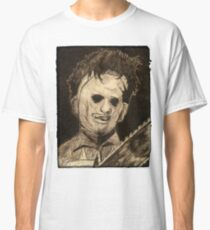 Leather face Horror Portrait  Classic T-Shirt