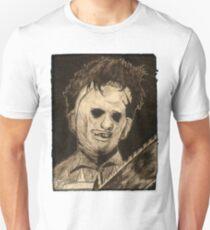 Leather face Horror Portrait  Unisex T-Shirt