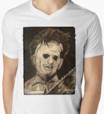 Leather face Horror Portrait  T-Shirt