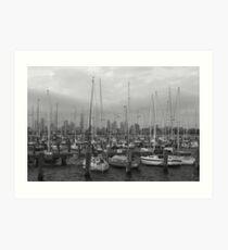 St Kilda Pier Boats Art Print