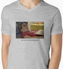 Skam - Isak Cries In Norwegian T-Shirt, Clothes, Stickers, Merchandise Men's V-Neck T-Shirt