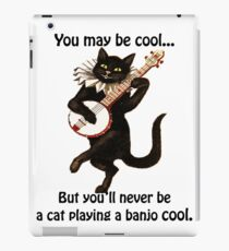 Cat Playing A Banjo Cool Graphic iPad Case/Skin