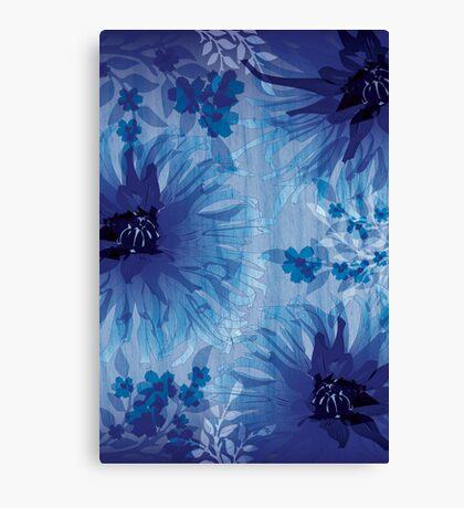 Chrysanthemum on wood grain Canvas Print