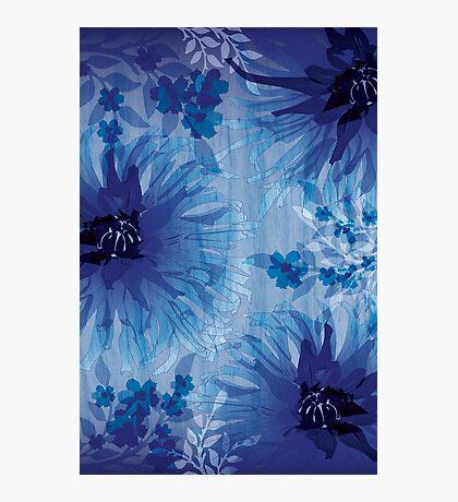 Chrysanthemum on wood grain Photographic Print