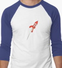 Tintin Destination Moon Rocket Men's Baseball ¾ T-Shirt