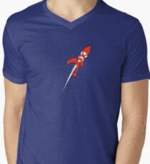 Tintin Destination Moon Rocket Men's V-Neck T-Shirt