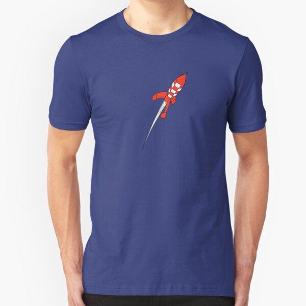 Tintin Destination Moon Rocket Camiseta ajustada
