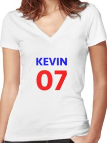 Kevin 07 Women's Fitted V-Neck T-Shirt