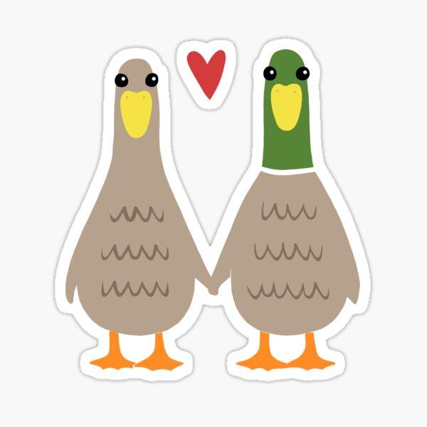 Liebesenten Sticker