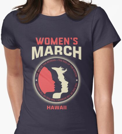 Women's March HAWAII Womens Fitted T-Shirt