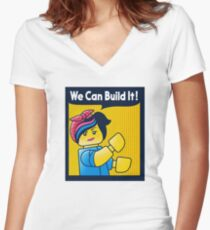 Build it! Women's Fitted V-Neck T-Shirt