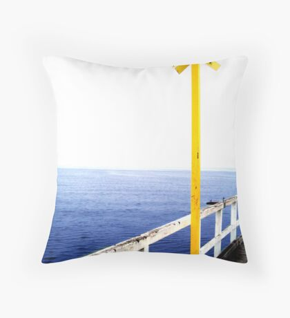 Yellow Sign Throw Pillow