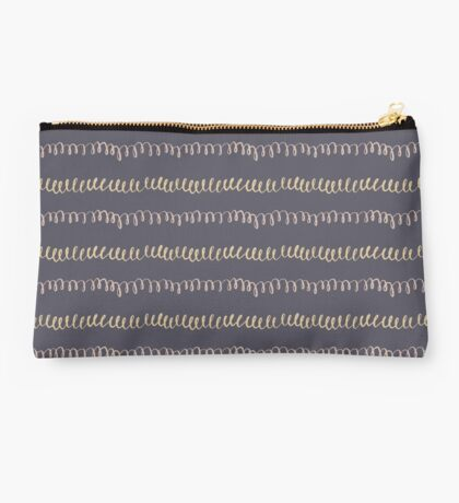 Black and Hand-Sketched Doodles Studio Pouch