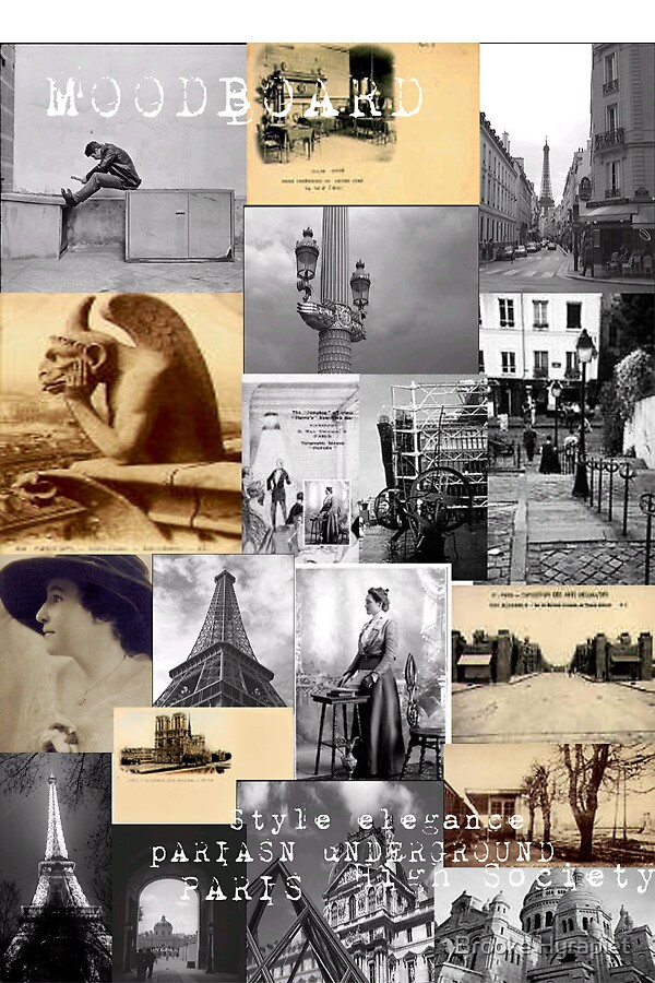 Parisian Mood Board by Brooke Hyrapiet