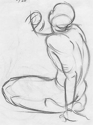 Life Drawing 2 by Brooke Hyrapiet