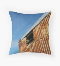 Sky and Rust Throw Pillow