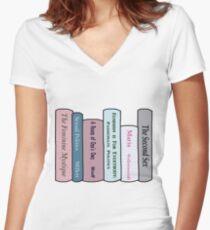 Feminist Literature Women's Fitted V-Neck T-Shirt