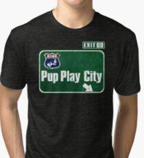 Pup Play City Tri-blend T-Shirt