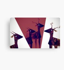 Geometric animals A Canvas Print